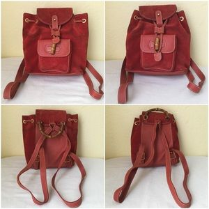 77d7b9e00512cd Gucci Mini Backpack Red Suede Leather for sale